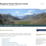 "Screenshot of the ""Rangeland Teacher Resource Guide"" website."