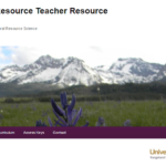 "Screenshot of the ""Natural Resource Teacher Resource Guide"" website."
