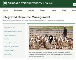 Thumbnail of the CSU Online Integrated Resource Management Page